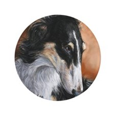 "Borzoi # 2 3.5"" Button"