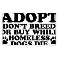 Adopt Homeless Decal