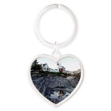 Pemaquid round ornament Heart Keychain