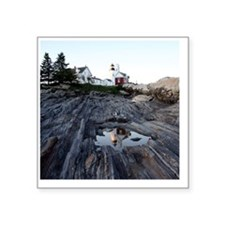 "Pemaquid round ornament Square Sticker 3"" x 3"""