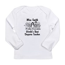 Custom Daycare Teacher Long Sleeve Infant T-Shirt