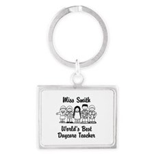 Custom Daycare Teacher Landscape Keychain