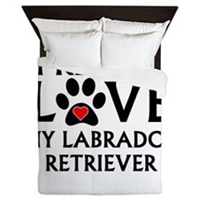 I Really Love My Labrador Retriever Queen Duvet