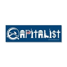 Cute Capitalism Car Magnet 10 x 3