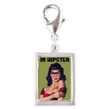 I Put the Hip in Hipster Funny Nerd Pin up Humor C