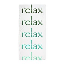 Yoga Greens Relax.Png Beach Towel