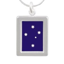 Southern Cross Stars Silver Portrait Necklace