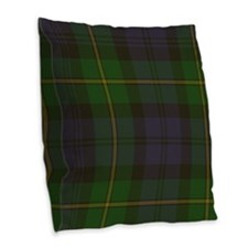 Gordon Tartan Burlap Throw Pillow