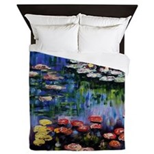 Monet Waterlilies Queen Duvet