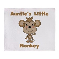 Auntie's Little Monkey Throw Blanket
