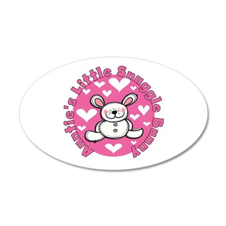 Auntie's Snuggle Bunny 20x12 Oval Wall Decal