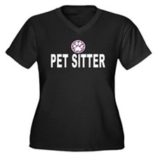 Pet Sitter Purple Circle Paw Plus Size T-Shirt
