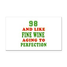Funny 98 And Like Fine Wine Birthday Rectangle Car