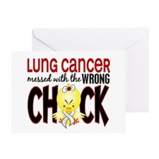 Lung Cancer Messed w/Wrong Chick Greeting Card