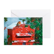 Red post box Greeting Cards (Pk of 20)