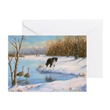 031 Border Collie  Geese Greeting Cards