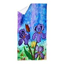 Iris At Sunrise Beach Towel