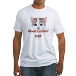 Good Lookin' Cat Fitted T-Shirt