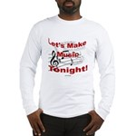Let's make music tonight , Red Long Sleeve T-Shirt
