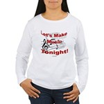 Let's make music tonight , Red Women's Long Sleeve