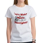 Let's make music tonight , Red Women's T-Shirt