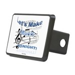 Let's make music tonight Rectangular Hitch Cover