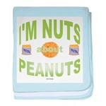 Nut's about peanuts baby blanket
