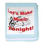 Let's make music tonight , Red baby blanket