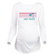 Stripe Just Mauid 14 Long Sleeve Maternity T-Shirt