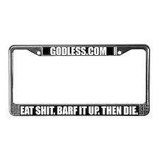 Unique Godless License Plate Frame