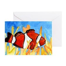 clown-fish-large Greeting Card