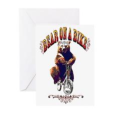 Bear_bike_big Greeting Card