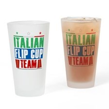 Italian Flip Cup Team Drinking Glass