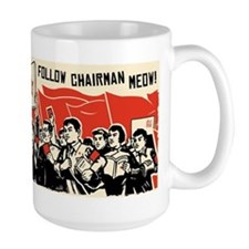 Follow Chairman Meow! Cat Rally Mugs