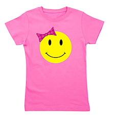 smilebowpinktopattitude Girl's Tee