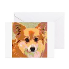 Reflection Gentle and Sweet Dog Face Greeting Card