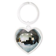 DISCO BALL2 Heart Keychain