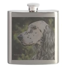 English Setter by Dawn Secord Flask