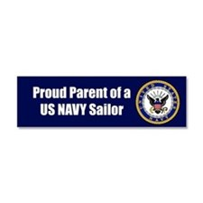 Funny Us navy Car Magnet 10 x 3