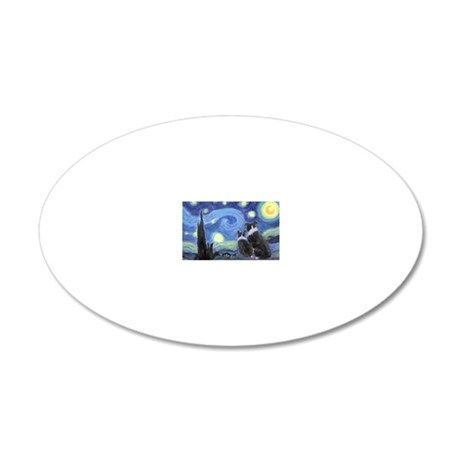 Starry Night hr 20x12 Oval Wall Decal