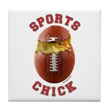 Football Chick 3 Tile Coaster