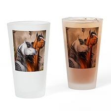 Alert_Arabians Drinking Glass
