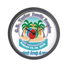 G.B. Taylor Family Reunion logo 2 Wall Clock