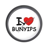 I love bunyips Wall Clock