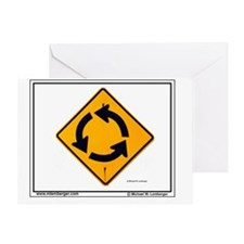 ZZ-Roundabout mousepad Greeting Card