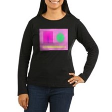 Minimalism Pink Long Sleeve T-Shirt