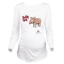 Senor Tapir white Long Sleeve Maternity T-Shirt