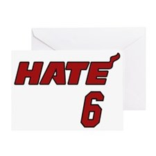 hate6_WHT Greeting Card