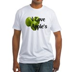 I Love Apple's Fitted T-Shirt