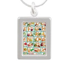 Poster-Alphabet_4600x700 Silver Portrait Necklace